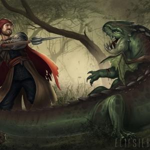 """The Good Fight"" - Interior illustration, Ulisses Spiele, 2017"