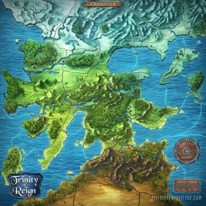 Illustrated Game Board / Map, Trinity of Reign, 2020