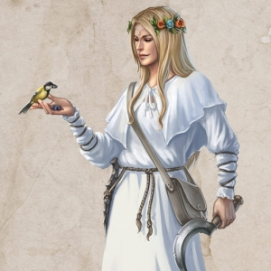 """Haindruidin"" - Character Illustration, Ulisses Spiele, 2018"